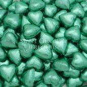 Chocolate Hearts - Ice Green