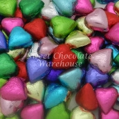 multicoloured hearts
