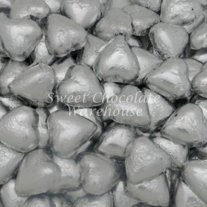 Chocolate Hearts - Silver