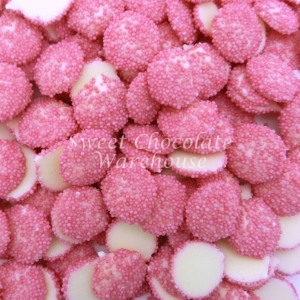 White Chocolate Pink Sparkles
