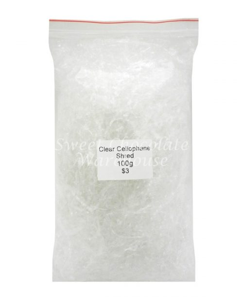 Clear cellophane shred 100g