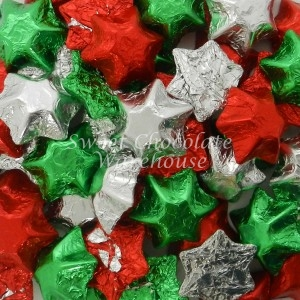 Red, Silver & Green Stars