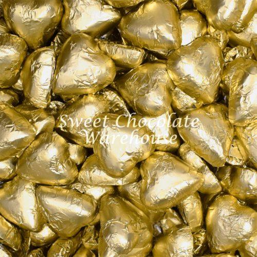 Gold Milk Chocolate Hearts