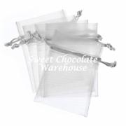 White/Silver organza bag