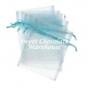 Blue organza bags