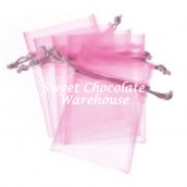 Pink organza bags